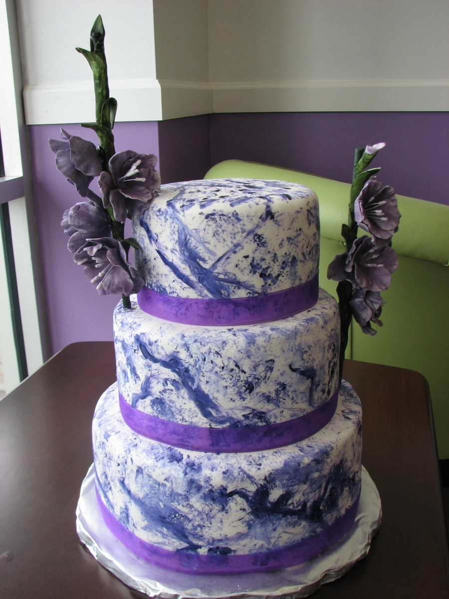 Swirled Cake With Flowers on Cake Central