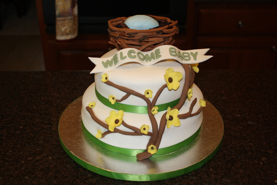 Yellow Blossom Tree on Cake Central