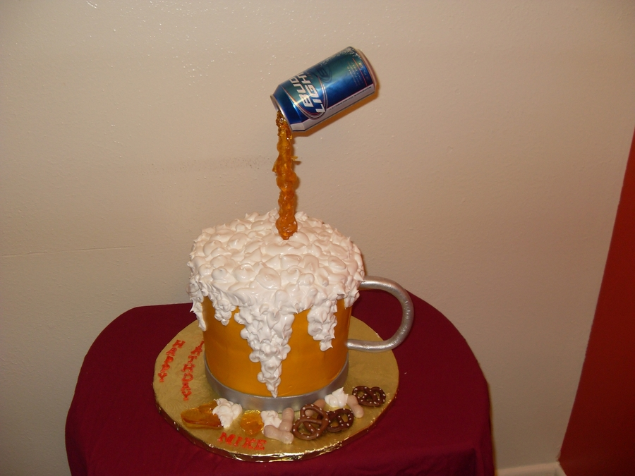 Birthday Cake Beer Mug