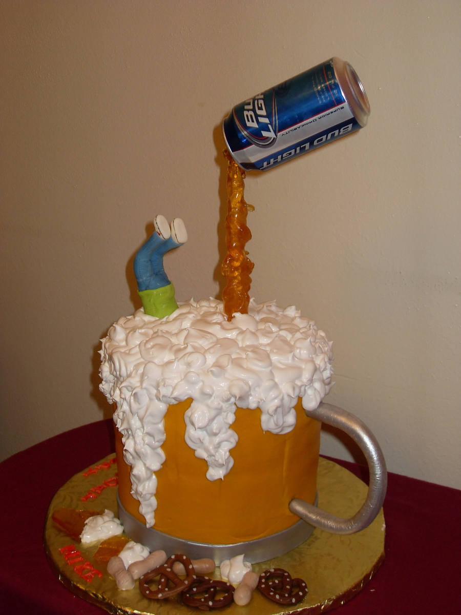Mike S Beer Mug Birthday Cake Cakecentral Com
