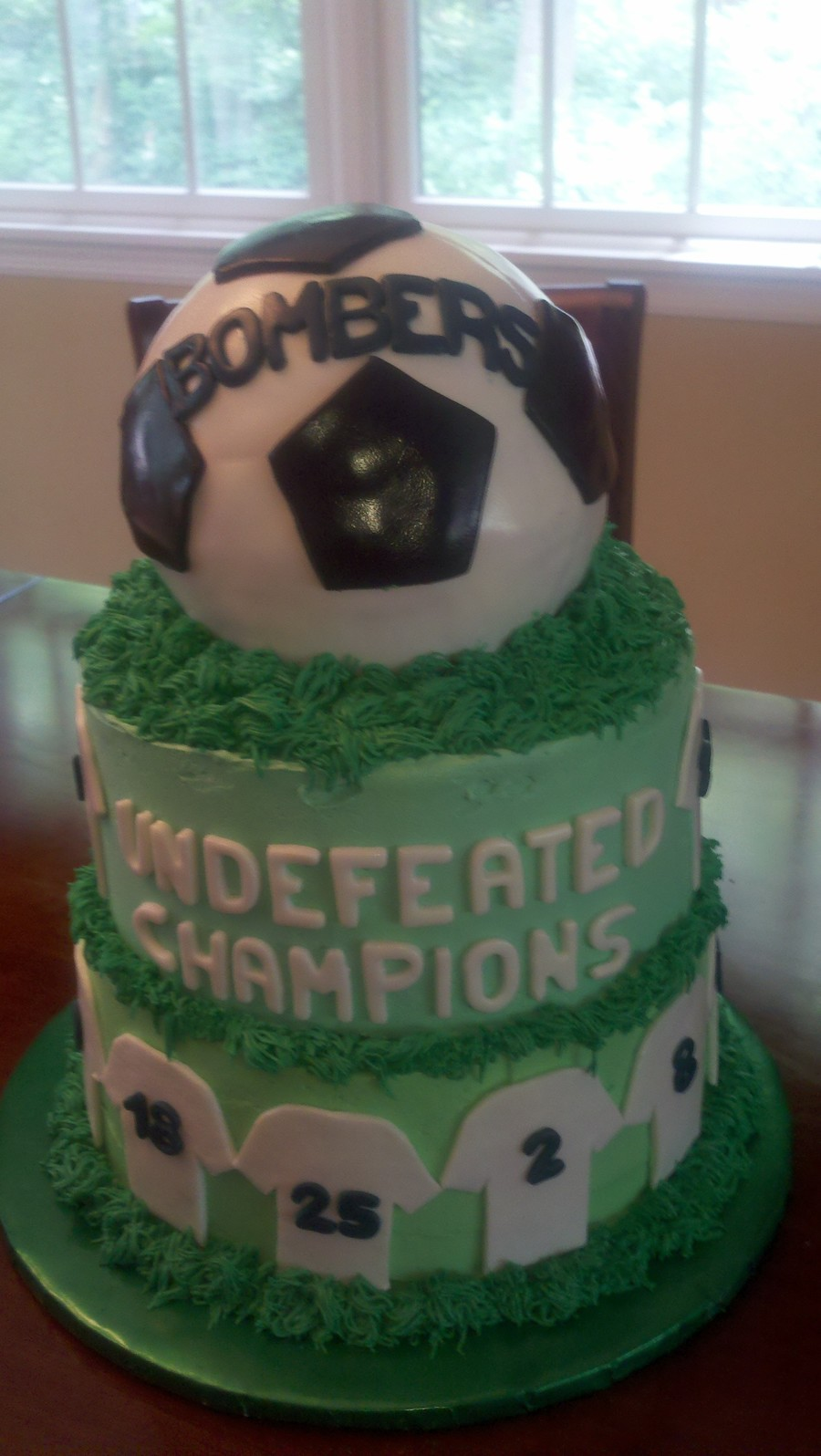 End Of Year Soccer Cake on Cake Central