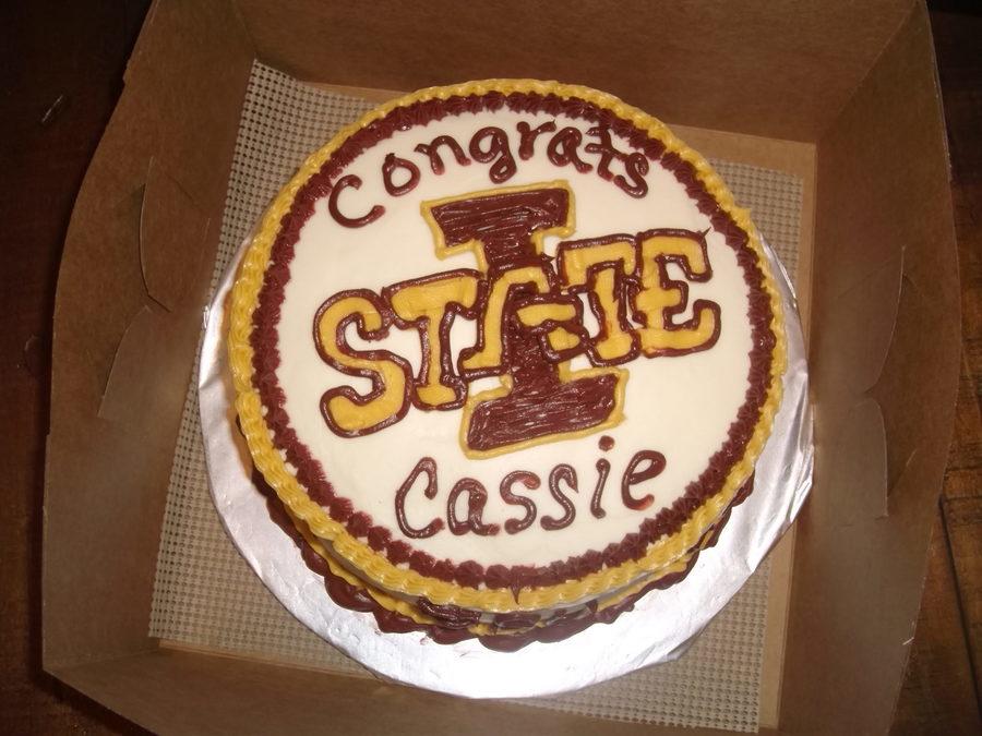 College Graduation Cake Iowa State University