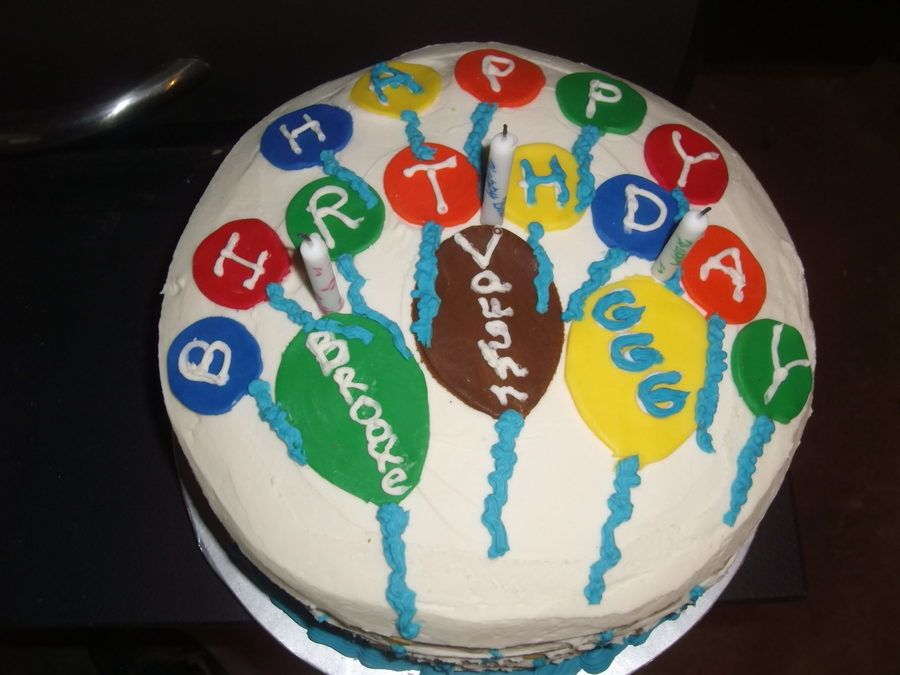 Images Of Birthday Cake And Balloons : Balloon Birthday Cake - CakeCentral.com