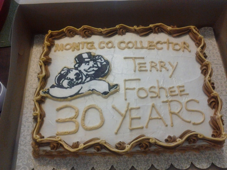 Thirty Year Work Anniversary Cake Thats A Long Time To Do ...