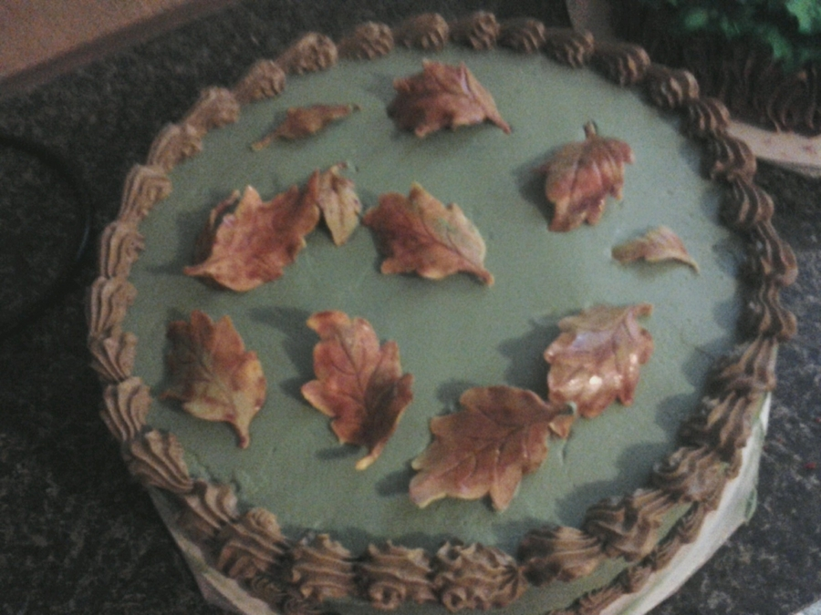 Fall Leaves Cake on Cake Central