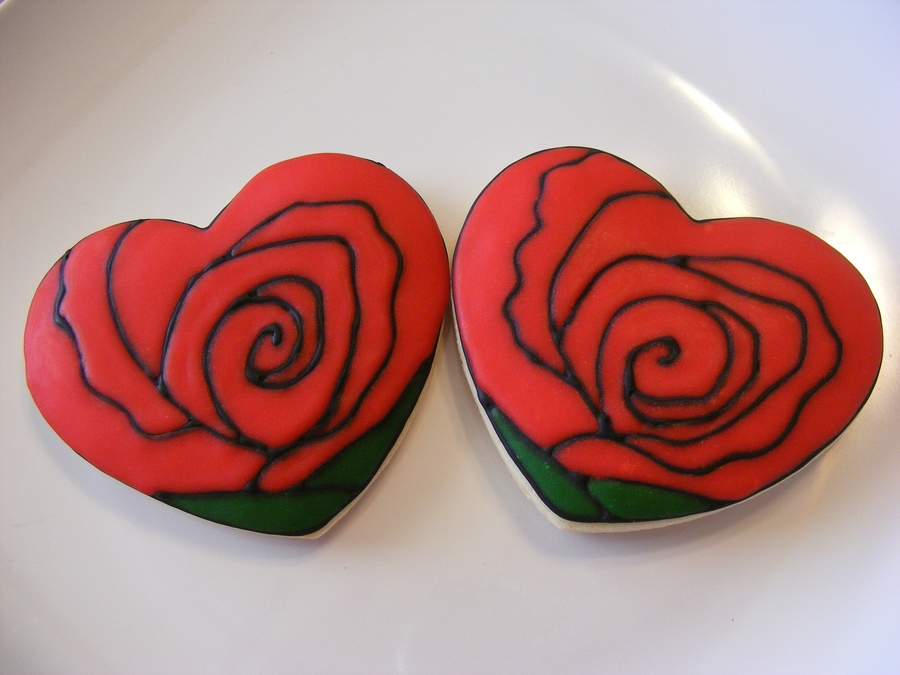 Hearts & Roses  on Cake Central