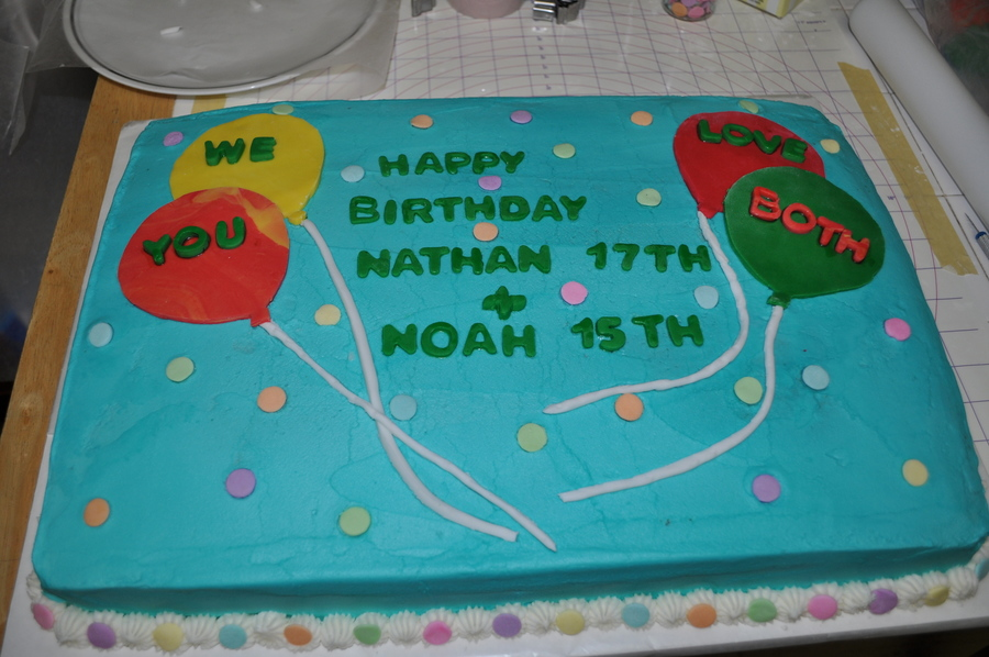 Hb Nathan&noah on Cake Central