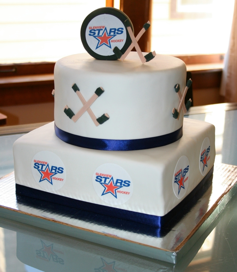 Hockey Birthday With The Team on Cake Central