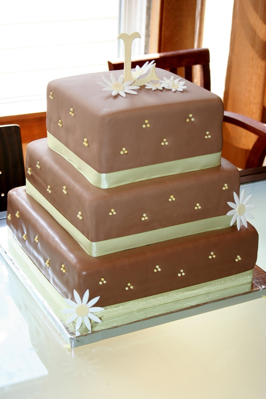 Chocolate Wedding Cake on Cake Central