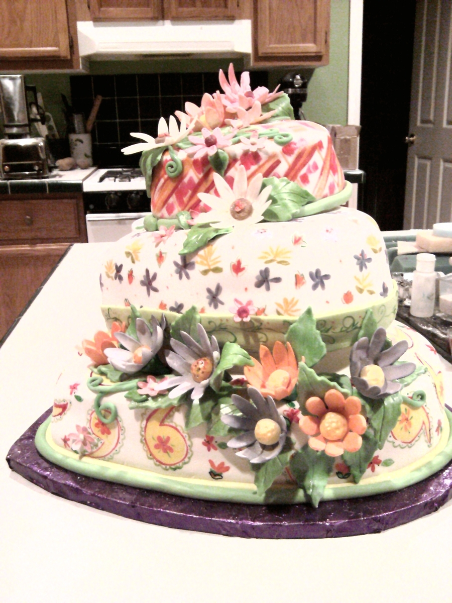Quilt Kirsh Wedding Cake on Cake Central