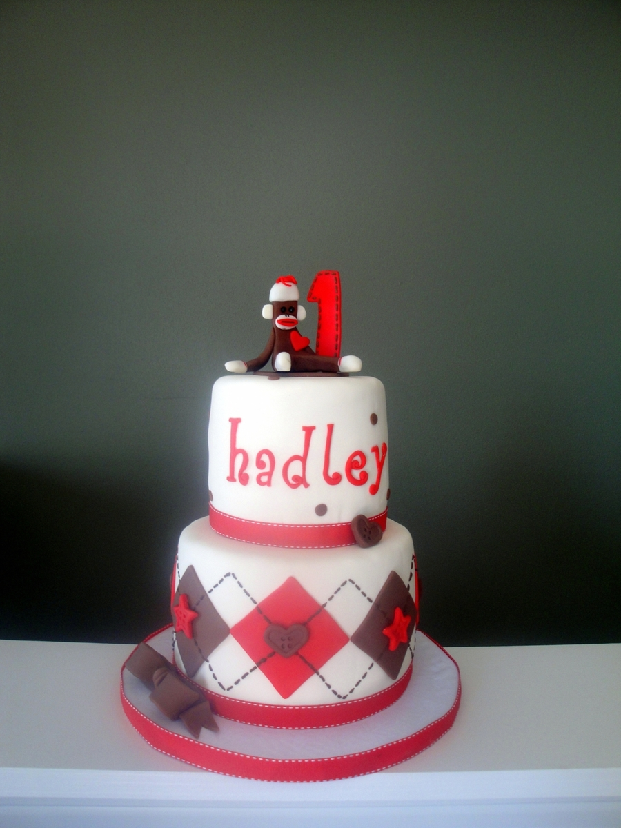 Sock Monkey Cake on Cake Central