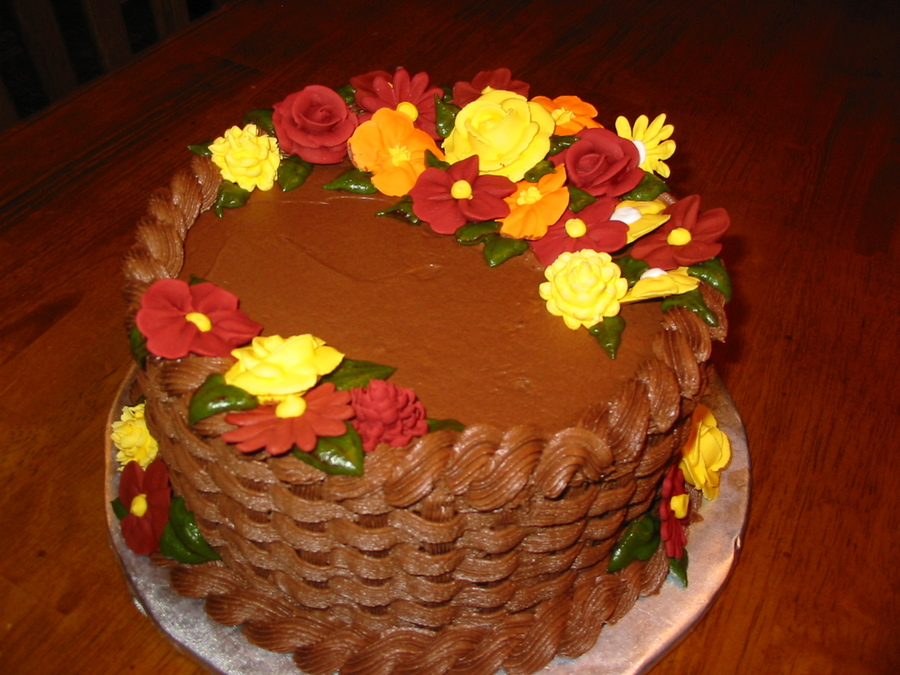 Fall Birthday Cake on Cake Central