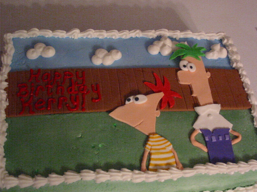 Phineas And Ferb Birthday on Cake Central