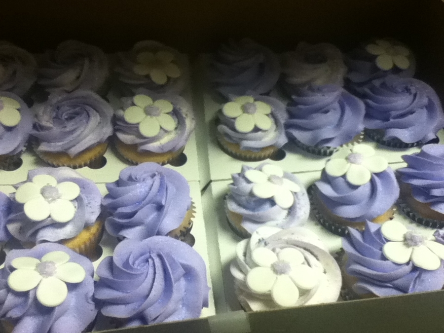 Purple Cupcakes  on Cake Central
