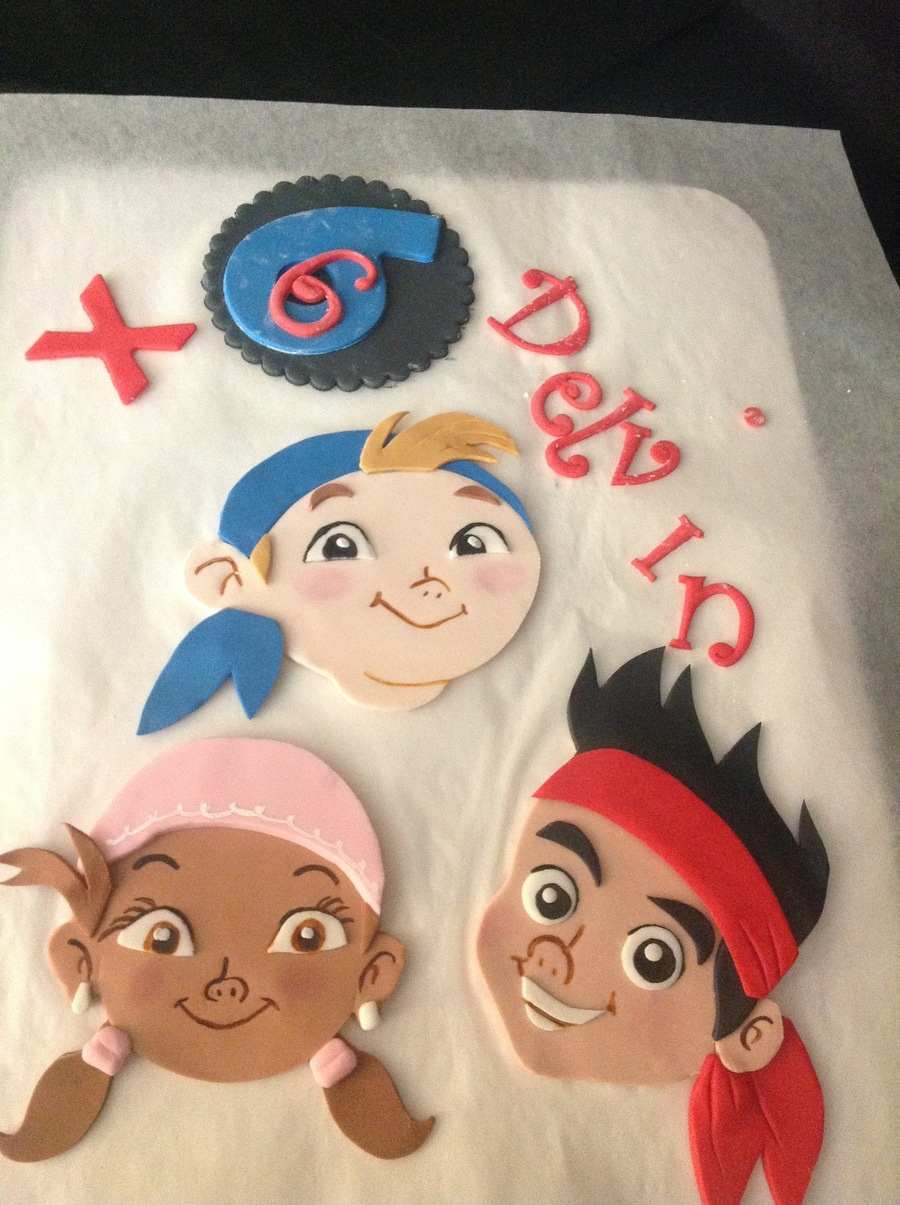 Gumpaste- Jake And The Neverland Pirates on Cake Central