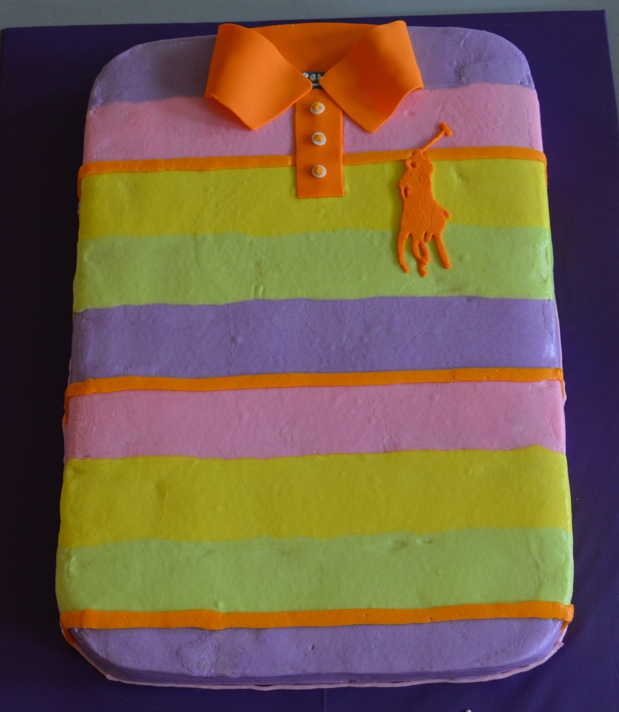Girl's Polo Shirt Cake on Cake Central