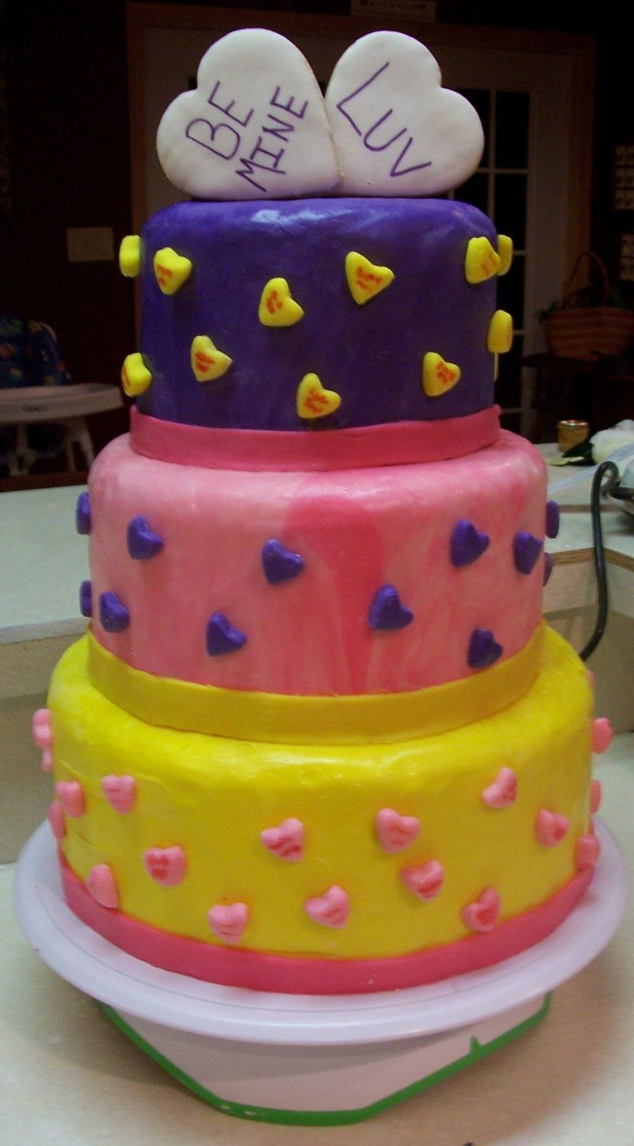 Candy Heart Cake on Cake Central
