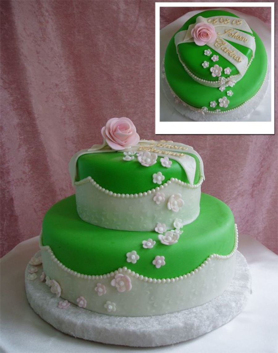 Lime Green Wedding on Cake Central