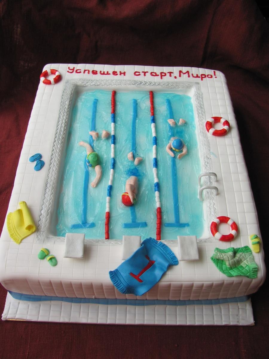 My First 39 39 Swimming Pool 39 39 Cake