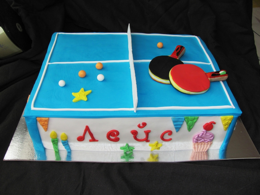 Table Tennis  on Cake Central