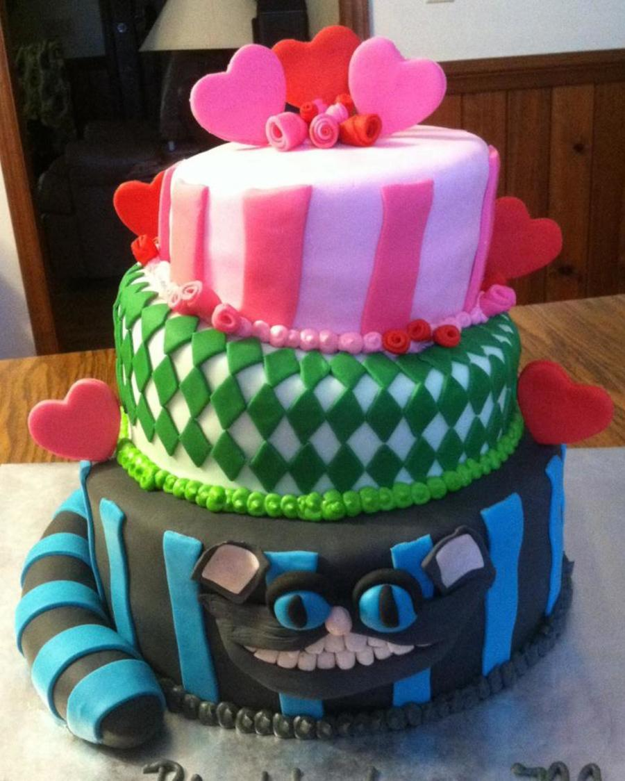Alice In Wonderland Cheshire Cat on Cake Central