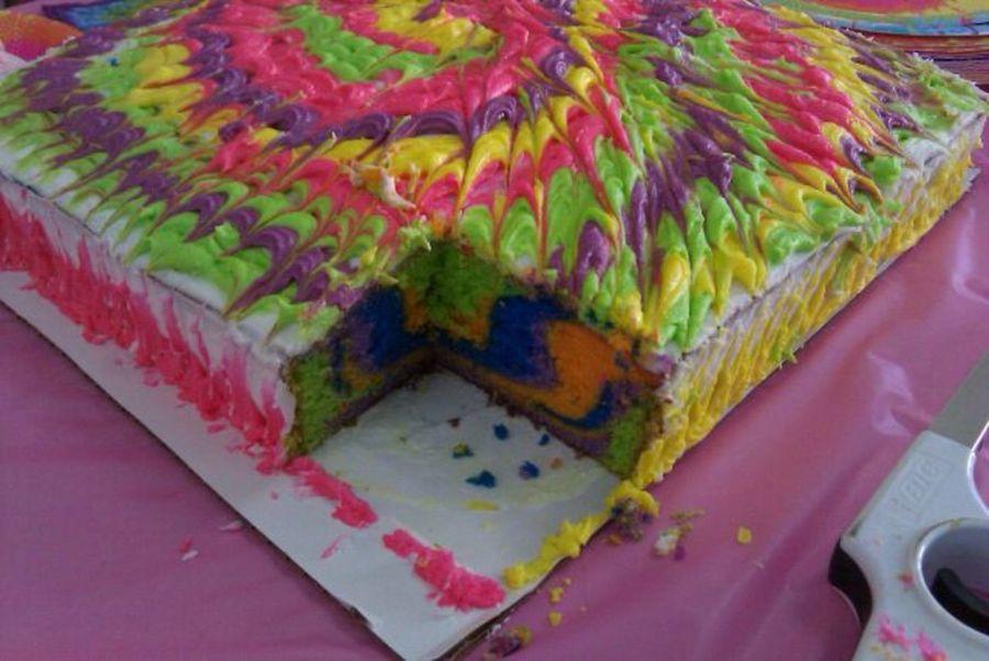 Square Tie Dye Cake Recipes