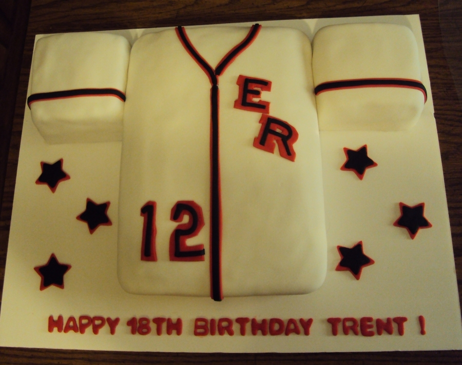 Baseball Jersey on Cake Central