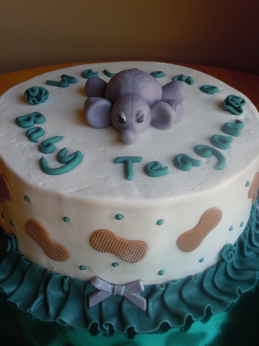 Elephant And Peanuts Baby Shower Cakecentral