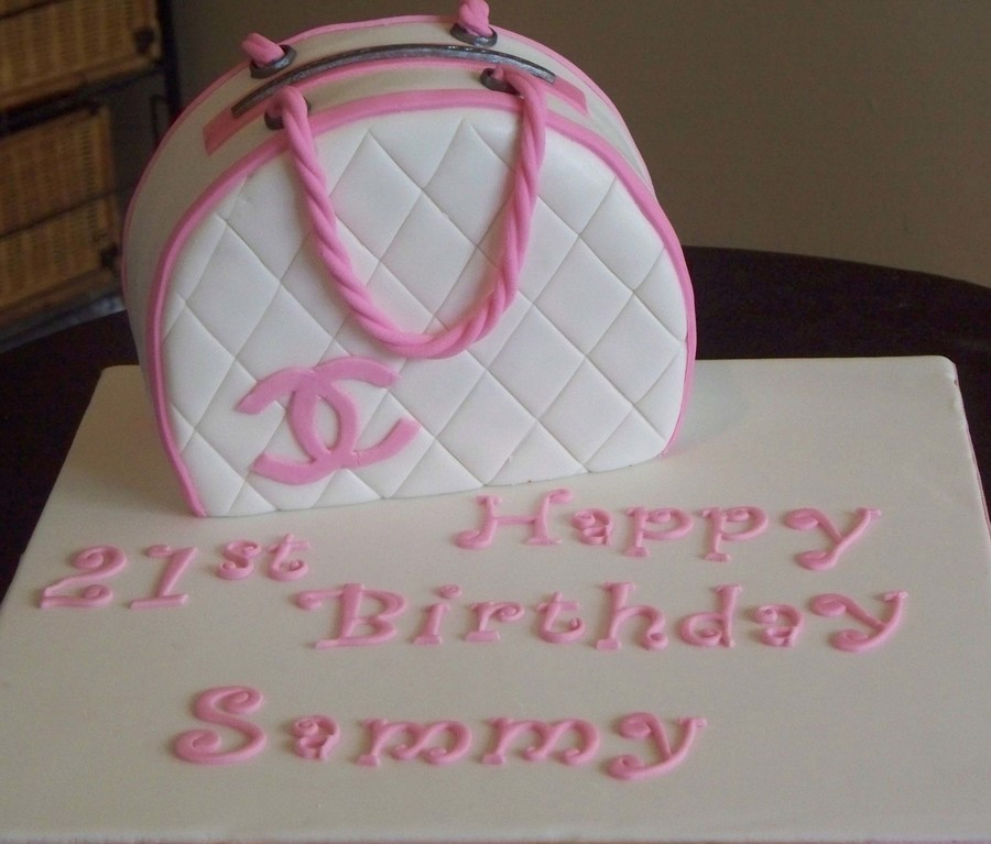 Pink Chanel Purse on Cake Central