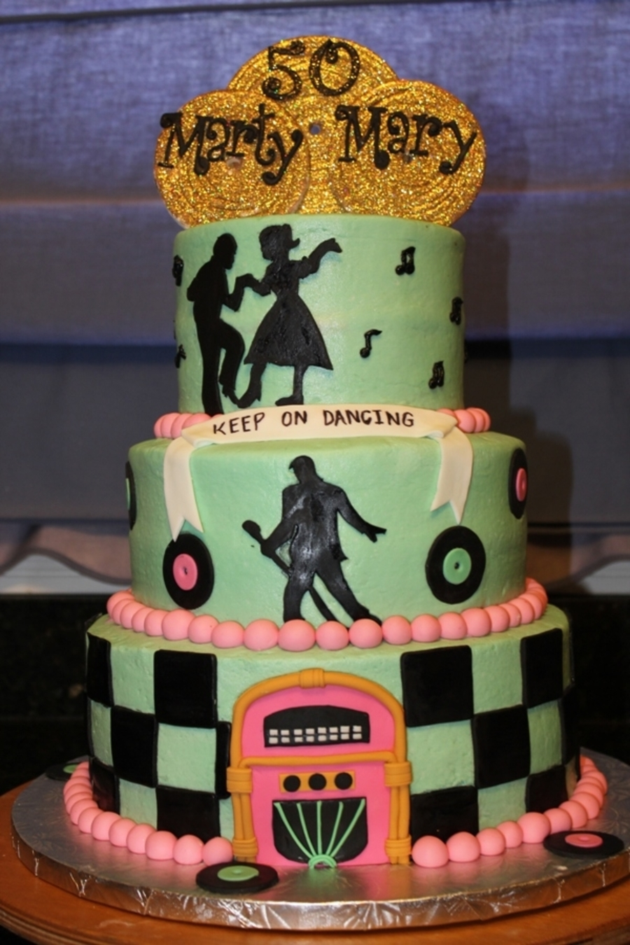 Rockin 50Th Anniversary on Cake Central