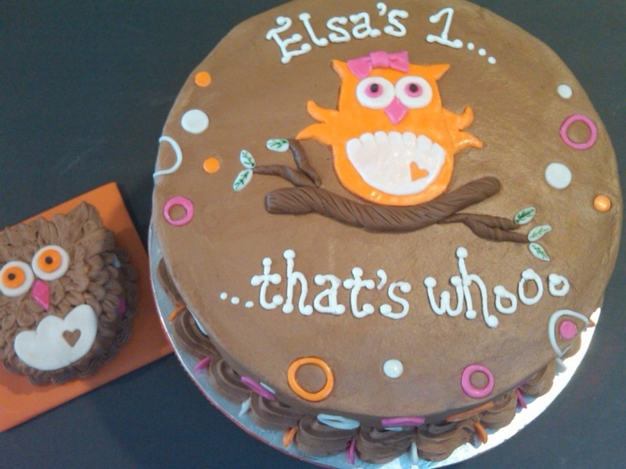 Whooo's One? on Cake Central