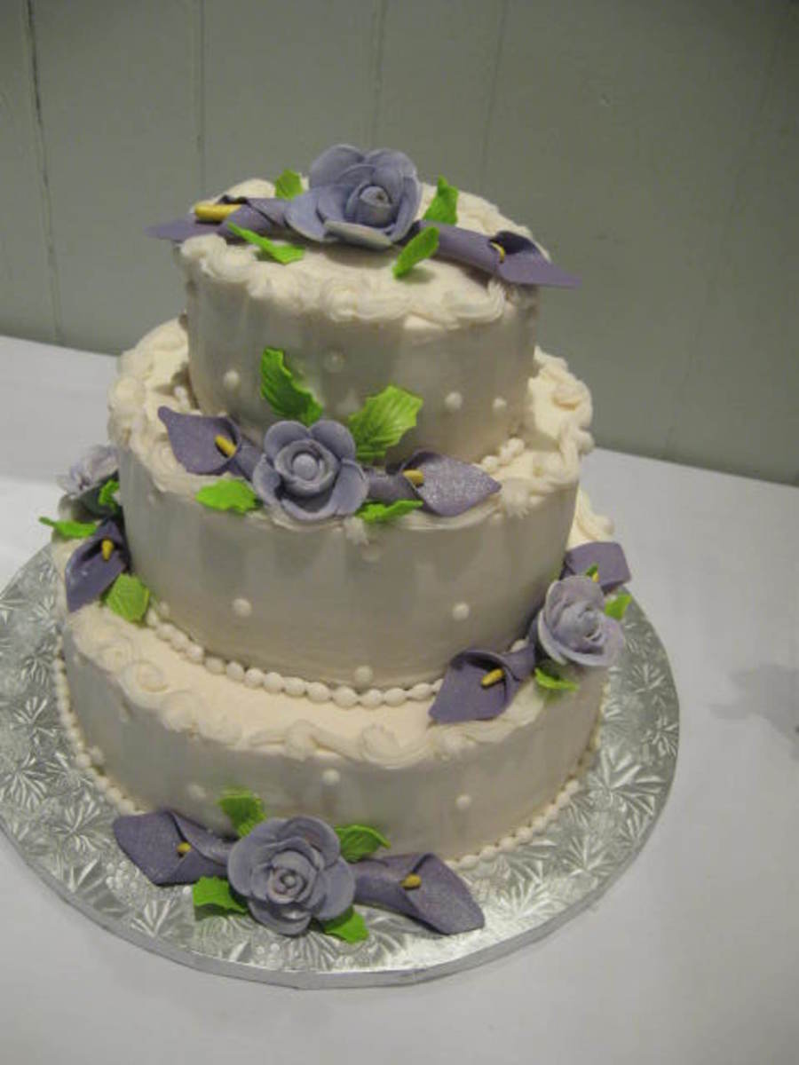 Purple Calla Lily Cake on Cake Central