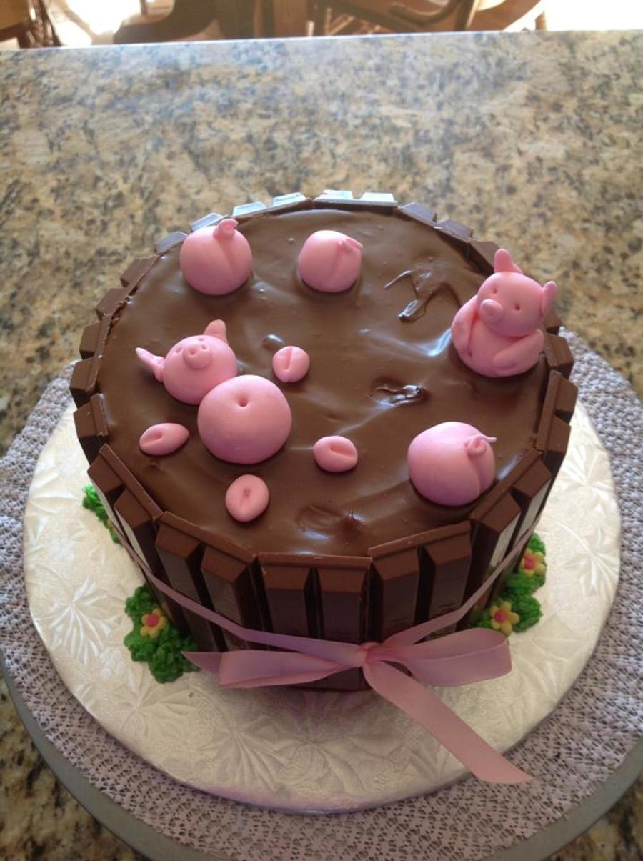 Cake Kit Kat Pigs : Pigs In Mud - CakeCentral.com