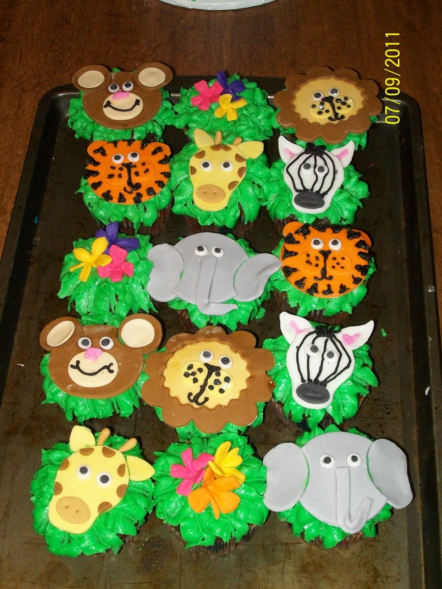 Safari Cupcakes on Cake Central