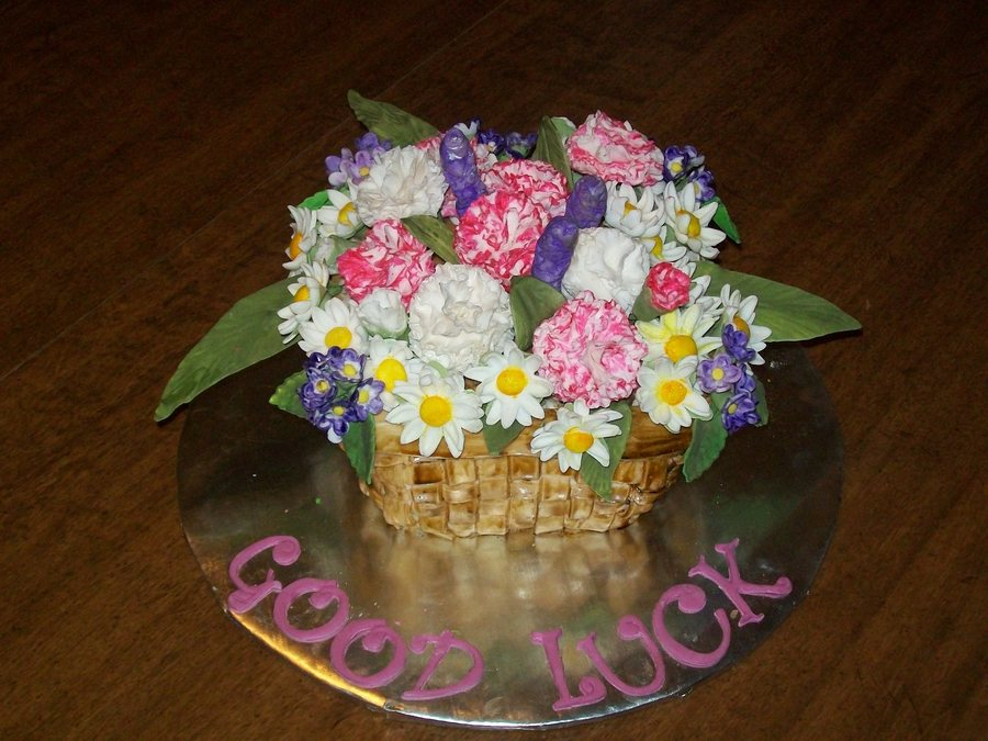 Flower Basket on Cake Central