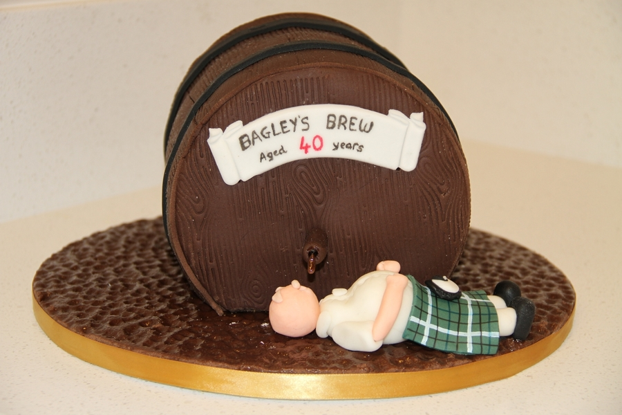 Birthday Cake I Made For My Employer He Is A Scots Man Hence The Kilt Taken From Debbie Browns Not Another Drop