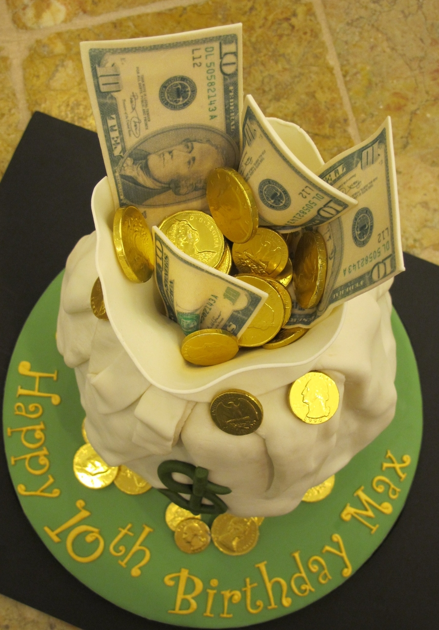 Maxs Birthday Money Cake CakeCentralcom