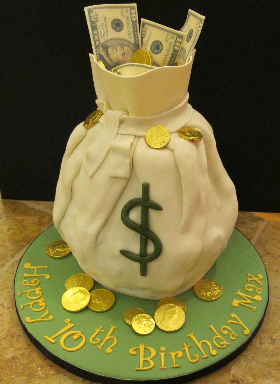 Maxs Birthday Money Cake Cakecentral