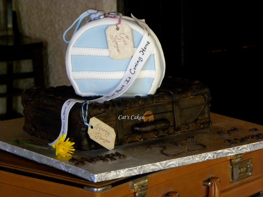 Our 25Th Anniversary Cake The Theme Was World Travelers Bottom Valise Was Chocolate Cake With Chocolate Brownie Buttercream Filling Han on Cake Central