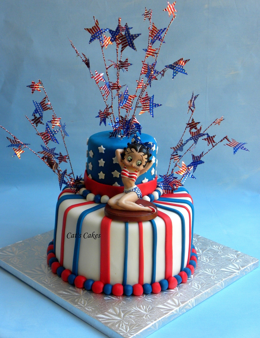 Patriotic Betty Boop Cake on Cake Central