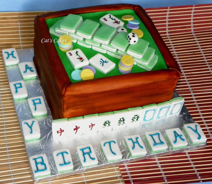 Vic's Mahjong Cake on Cake Central