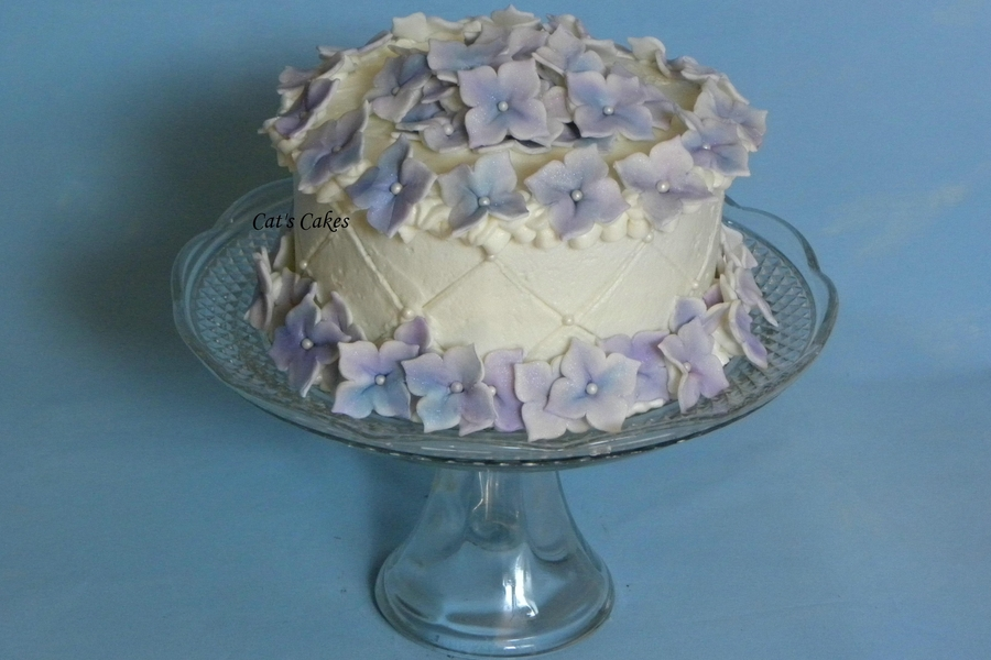 Hydrangea Birthday Cake on Cake Central