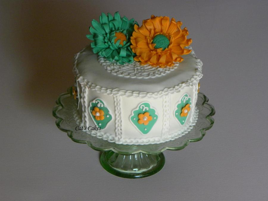 Jackie's Old Fashioned Crochet Birthday Cake on Cake Central