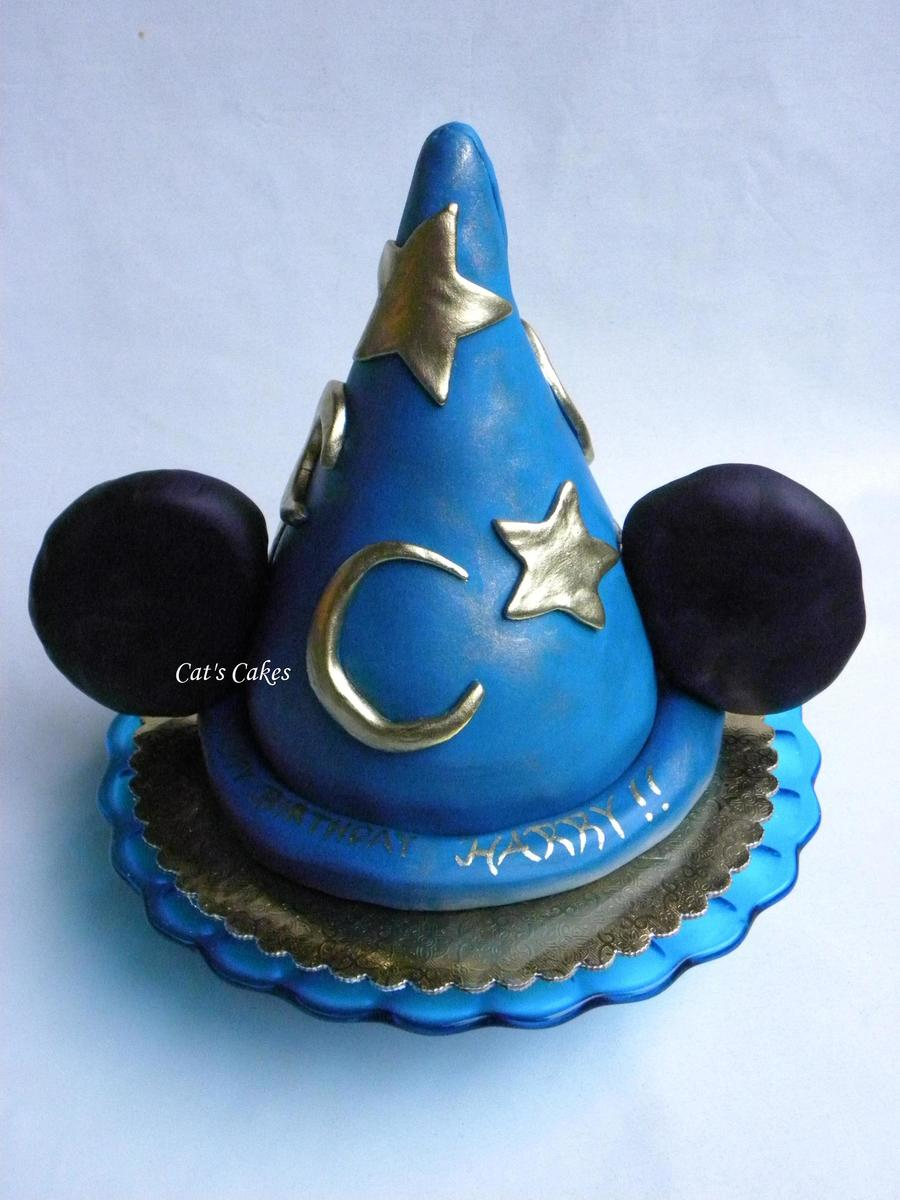 Mickey Sorcerer's Hat Birthday Cake on Cake Central