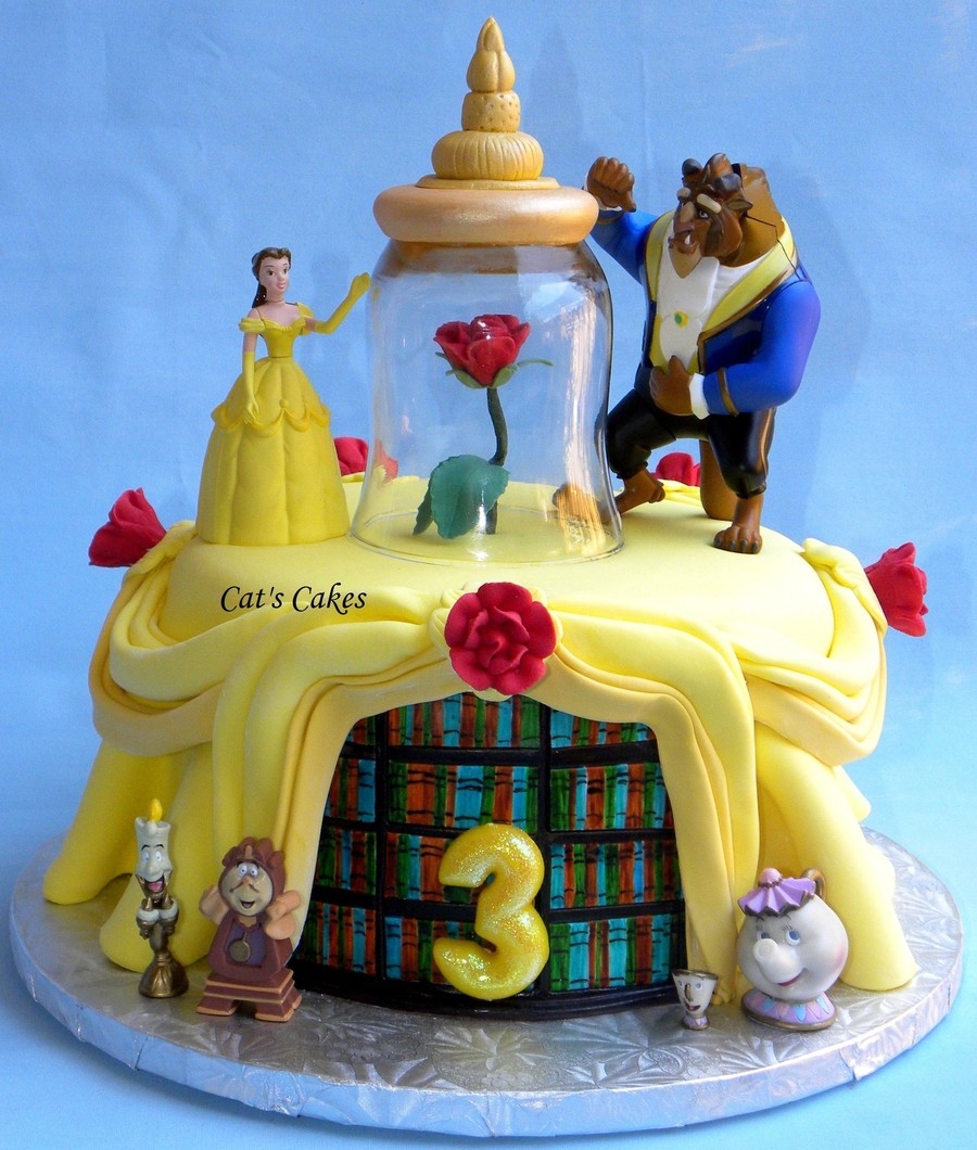 Jillys Beauty And The Beast Birthday Cake CakeCentralcom