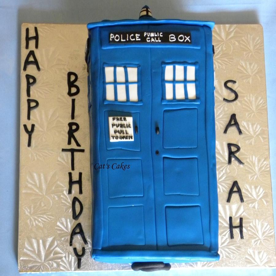 Pleasant Sarahs Tardis Birthday Cake Cakecentral Com Funny Birthday Cards Online Inifodamsfinfo