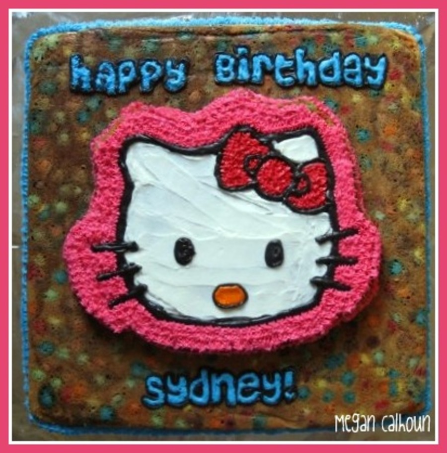 Hello Kitty Cookie Cake on Cake Central