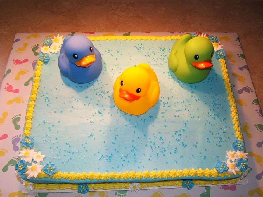 Blue And Yellow Baby Shower Cakecentral Com