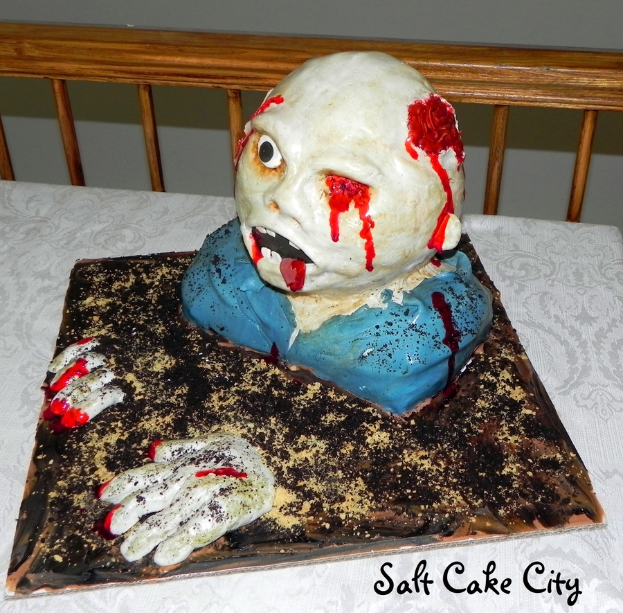 3-D Zombie Cake on Cake Central