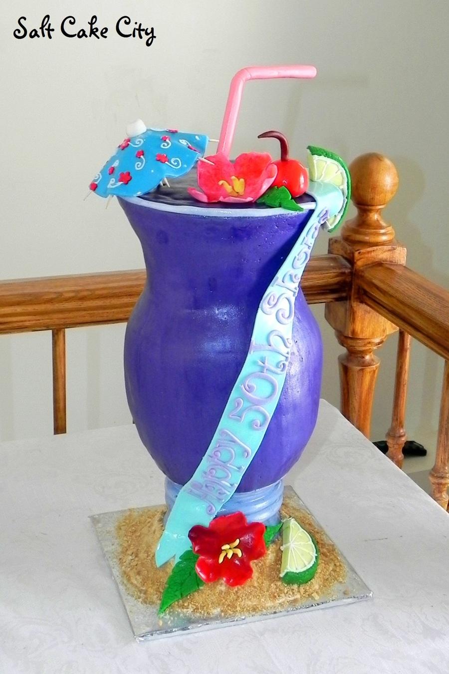 Prime Purple Cocktail Birthday Cake Cakecentral Com Birthday Cards Printable Inklcafe Filternl